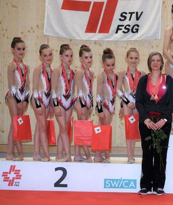 SILBER G1-1: Lana, Alina, Zornitsa, Mélissa, Sophia, Sofia (Foto: Marco Lauper)