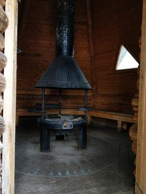 Feuerstelle in der Kota