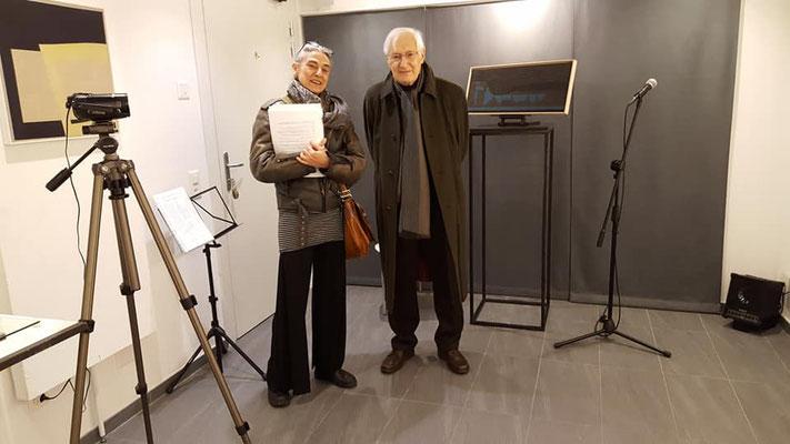 Paola Fonticoli con Enrico Della Torre, areapangeart - Camorino/Bellinzona (CH)  2018 - foto di Loredana Muller