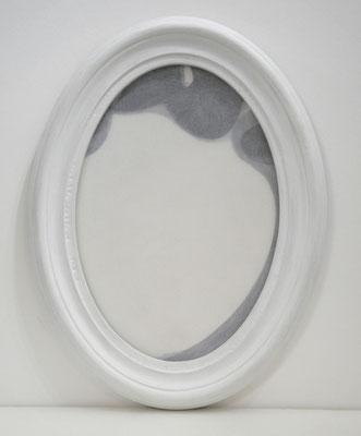 "serie ""appunti per Robert Walser"" acrilico e PVC su cartoncino (con cornice) 2009 cm16,5x23,5"