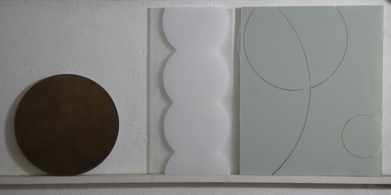 12-7 acrilico e resina su vetro 2012 cm110x50