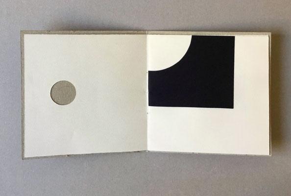 """Libro d'artista """"PUNTO e BASTA"""" collage 2013 esemplare unico cm18x18 (chiuso)"""