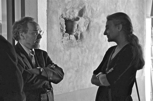 Paola Fonticoli con Josef Weiss, Stellanove Spazio d'arte - Mendrisio  2011 - foto di Klaus Sommer