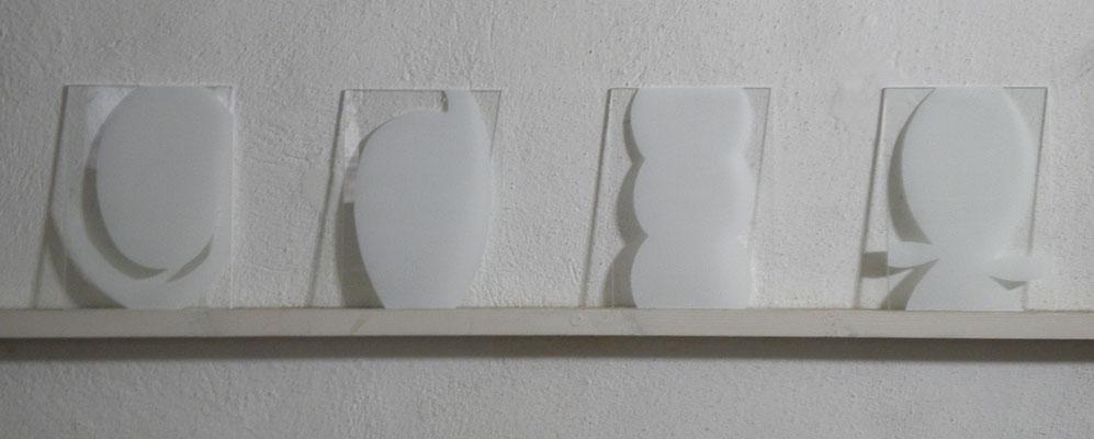 SERIE 11-16 acrilico + brek su vetro 2011 cm13x18