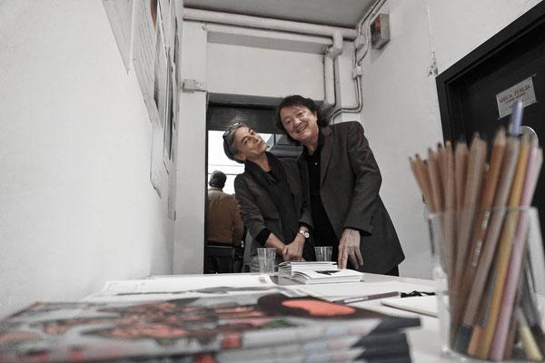 Paola Fonticoli con Claudio Cerritelli, Studio Masiero - Milano 2017 - foto di Lucrezia Aurora Spagnulo