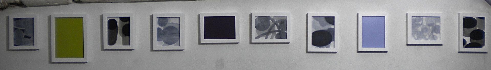 SERIE 12-20 acrilico su carta 2012 misure varie, lunghezza totale cm300