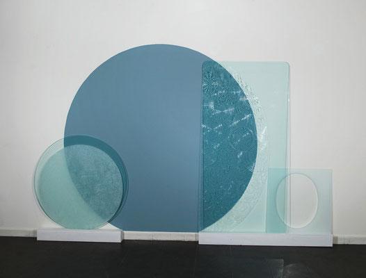 """""""Labirinti di Luce"""" installazione presso la Galleria Spaziotemporaneo, Milano 2012"""