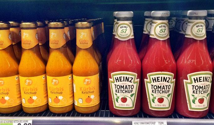 Produktentwicklung  -  Georgs Ketchup vs. Heinz Ketchup