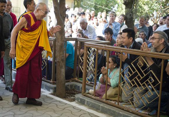 Und wenn er nicht auf einer seiner Reisen um die Welt ist, können wir dem Dalai Lama hautnah begegnen