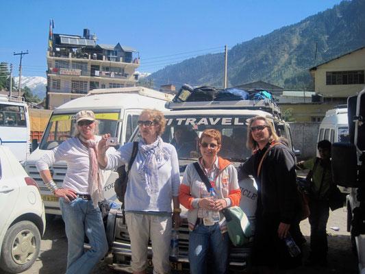 Ohne Option 1 geht es mit dem Bus direkt weiter nach Dharamsala ...