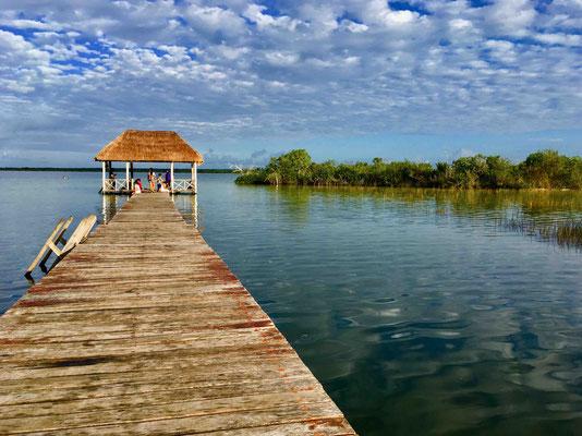 Ein ganz anderes Szenario: Bacalar an der großen Lagune
