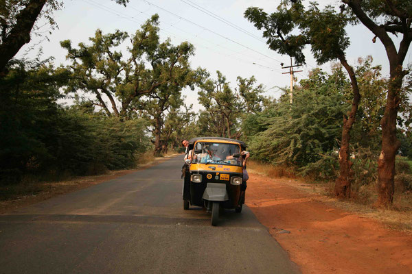 Eine Fahrt mit der Riksha gehört in Indien immer dazu