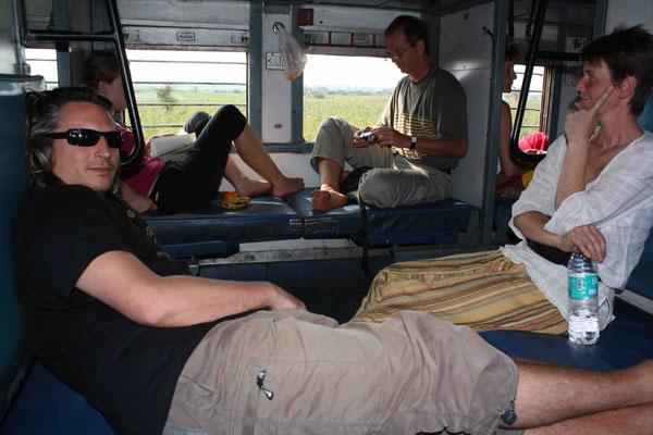 Reisen im Zug sieht ganz anders aus als bei uns