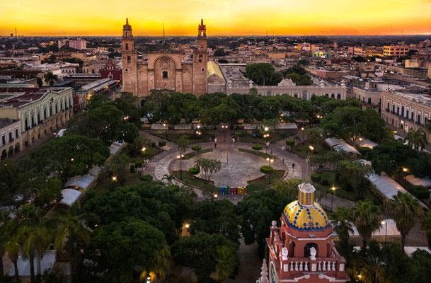 Vorletzte Station ist Mérida, die alte koloniale Hauptstadt der Spanier