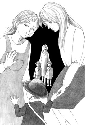 『テリブル・ママ』櫛木理宇著 集英社 小説すばる 短編小説挿絵 2018 5月号