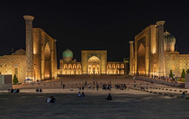 Buchara, Chiwa, Samarkand in Usbekistan.