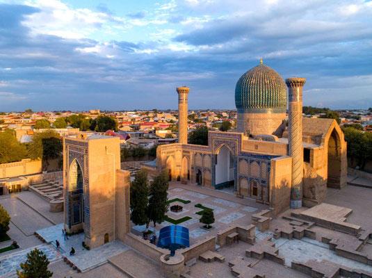 Timur gab auch den Bau des Gur-Emir-Mausoleum in Auftrag - das Grab des Gebieters.