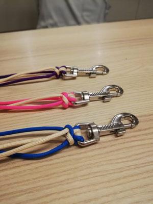 blau, violett und pink werden drei unserer Welpen