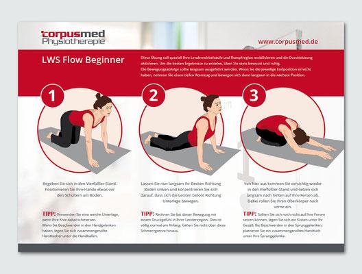 Illustration und Gestaltung eines Flyers für eine Physiotherapie Praxis
