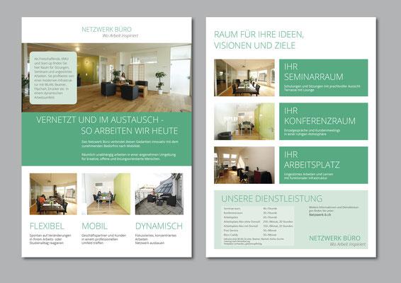 2-Seitiger DIN A4 Flyer für das Netzwerkbüro
