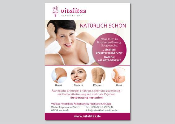 Anzeigengestaltung für Vitalitas.de