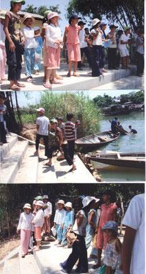 Nouveau débarcadère pour aller en classe de soutien financé par France Vietnam Partage