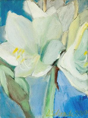 Dorothea Schrade, Himmlisches Blau, 2003, Öl/LW, 40x30 cm