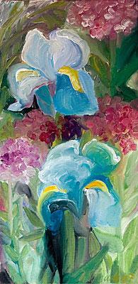 Dorothea Schrade, Blütenschaum, 2007, Öl/LW, 60x30 cm
