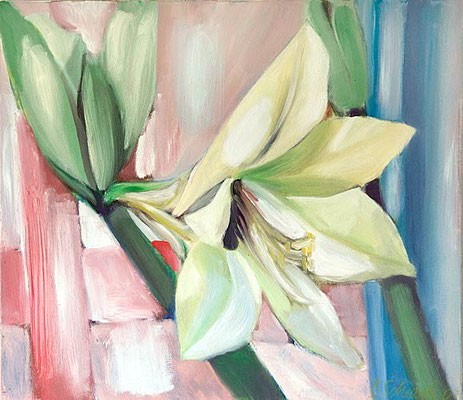 Dorothea Schrade, Amaryllis, 2003, Öl/LW, 70x80 cm
