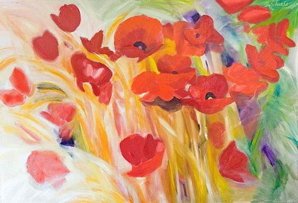 Dorothea Schrade, Die vier Jahreszeiten, 2002/3, Öl/LW, 190x275 cm