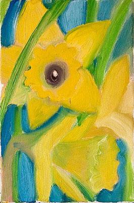 Dorothea Schrade, Strahlend, 2003, Öl/LW, 30x20 cm