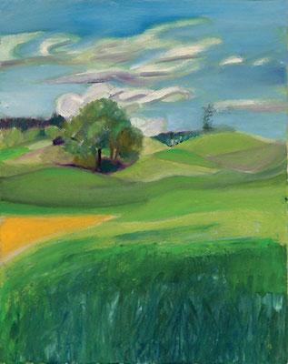 Dorothea Schrade, Im Juni, 2011, Öl auf Leinwand, 50 x 40 cm