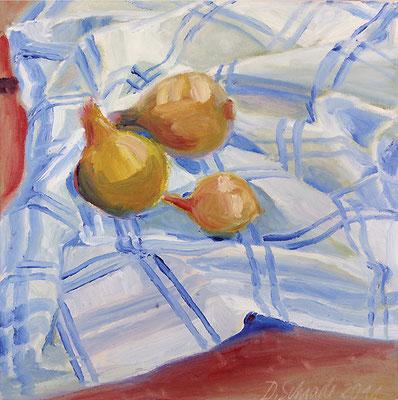 Dorothea Schrade, Küchenstilleben, 2011, Öl auf Leinwand, 40 x 40 cm
