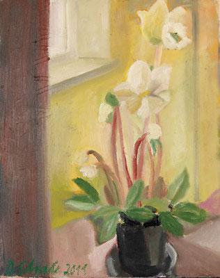 Dorothea Schrade, Durchblicke, 2011, Öl auf Leinwand, 50 x 40 cm