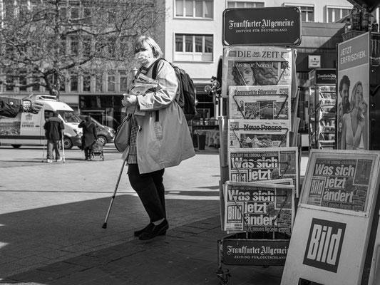 16. April - Kiosk am Kröpcke - heute alle neuen Regeln in der BILD