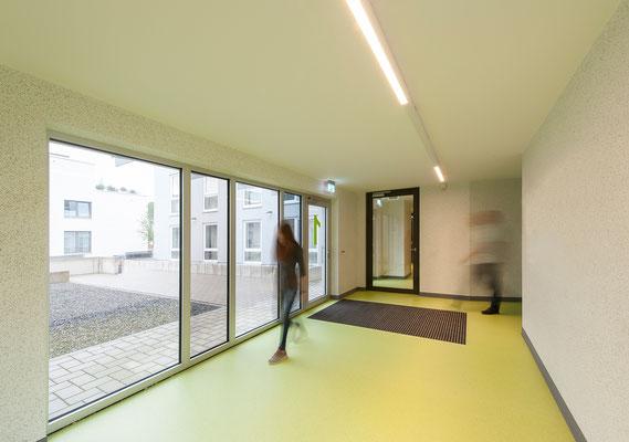 Neubau Studierendenwohnanlage in Gummersbach, Eingangsbereich