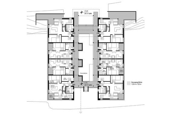 Wettbewerb I Quartiersentwicklung Breitenhagen, Altena, Grundriss OG