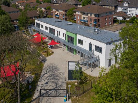 Neubau Kita Förderstraße in Essen, Luftbild