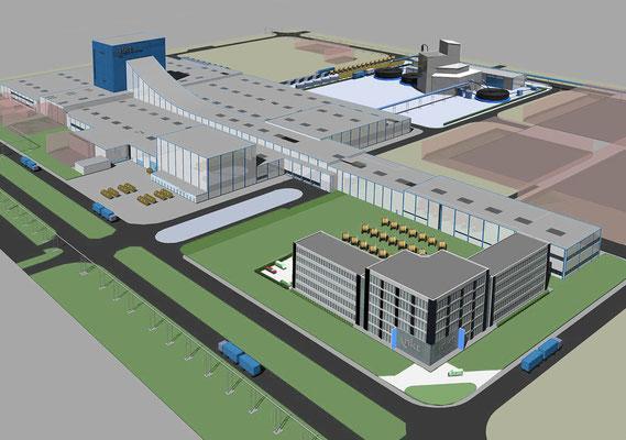 Neubau Zentralverwaltung NKT GmbH & Co. KG - Gesamtansicht