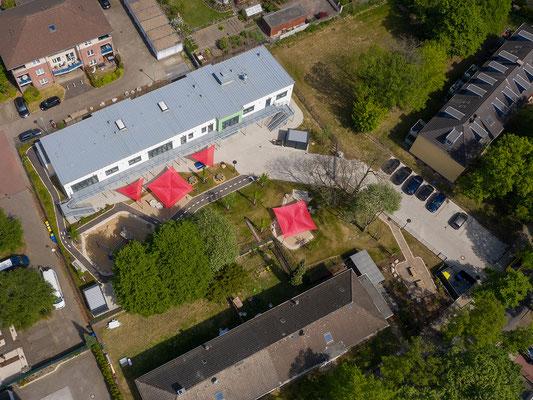 Neubau Kita Förderstraße in Essen, Luftbild mit Gelände