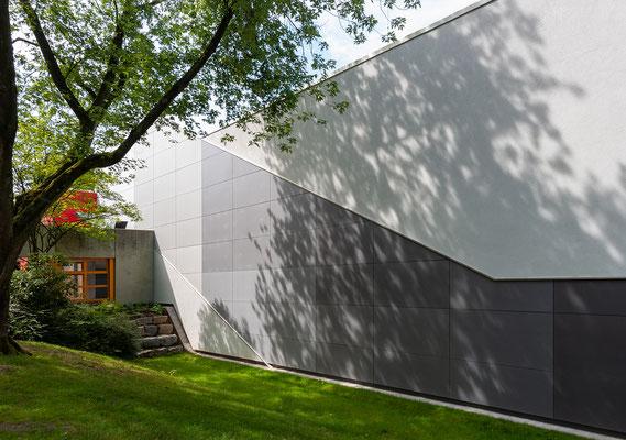 Sanierung Sporthalle Johannes Gutenberg Realschule in Dortmund, Fassade