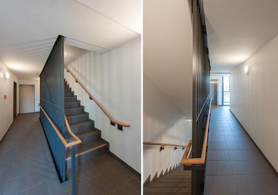 Erweiterung Wohnanlage für Studierende in der Bernkasteler Straße in Köln, Treppenhaus