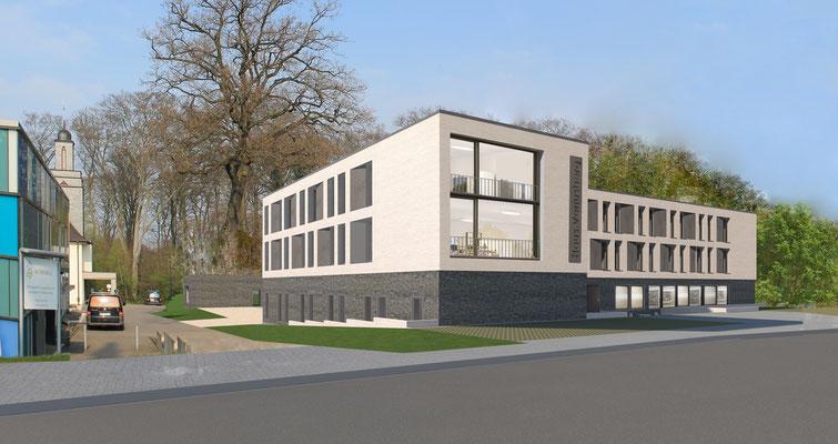 Machbarkeitsstudie Haus Venusberg e.V. in Bonn, Visualisierung Straßenansicht