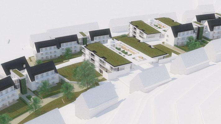 Wettbewerb I Quartiersentwicklung Breitenhagen, Altena, hangseitiger Blick, Detail