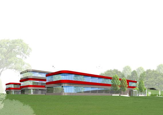 Wettbewerb Neubau Kreisverwaltung Mettmann Perspektive 2
