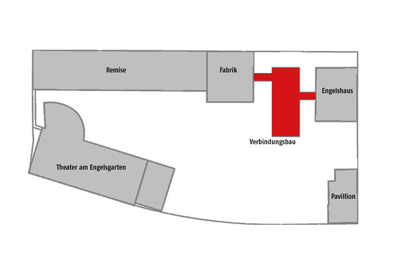 Neubau des Verbindungsbaus zwischen Engelshaus und Museum für Frühindustrialisierung in Wuppertal - Lageplan