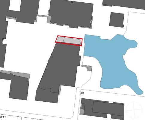 Erweiterung Mensa Hochschule Bonn-Rhein-Sieg in Rheinbach, Lageplan