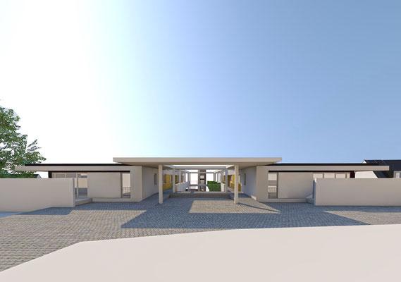 Wettbewerb I Quartiersentwicklung Breitenhagen, Altena, Ansicht begrünter Innenhof 01