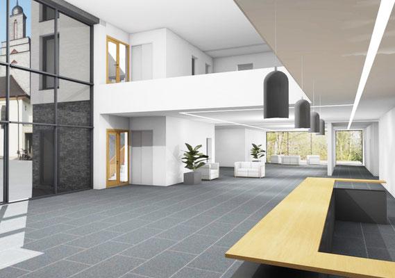 Machbarkeitsstudie Haus Venusberg e.V. in Bonn, Visualisierung Atrium