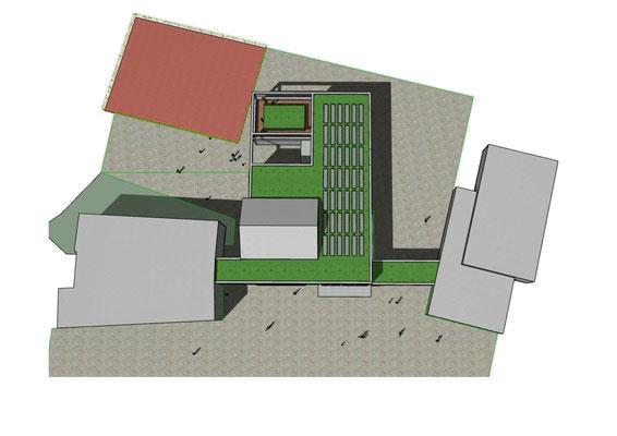 Generalplanung zur Erweiterung Josef-Schaeben-Grundschule Weilerswist, Vorplanung Aufsicht